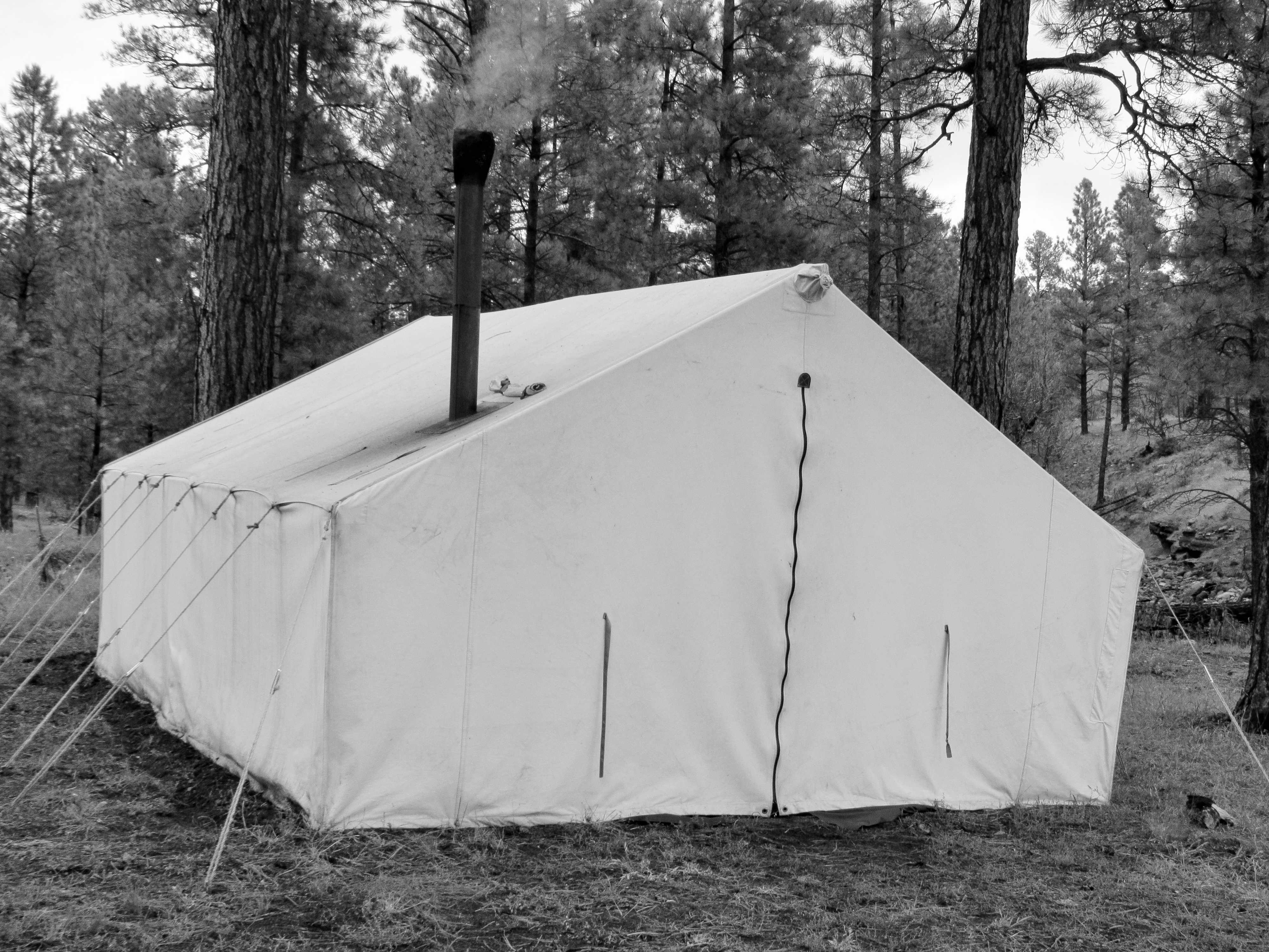 Elk Hunting Outfitters tent in NM
